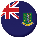 British Virgin Islands Flag 25mm Flat Back